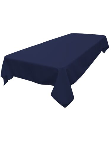 """Dinner Tablecloth 60/"""" x 102/"""" Navy Blue lovemyfabric Polyester Holiday Party"""