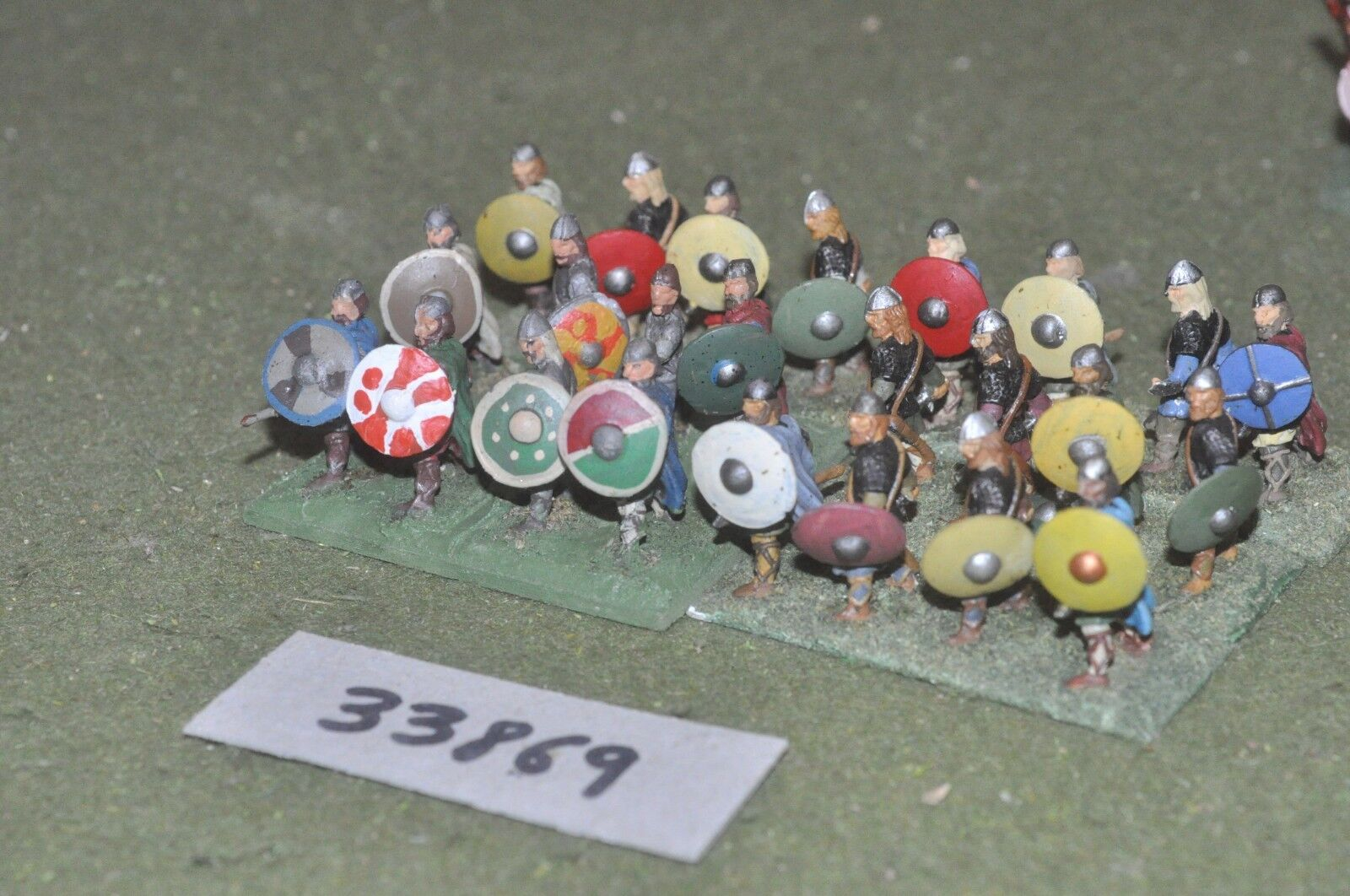 25mm dark ages   anglo saxon - spearmen 24 figures - inf (33869)