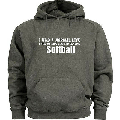 I had a normal life until my kids started playing Softball funny t-shirt mom dad