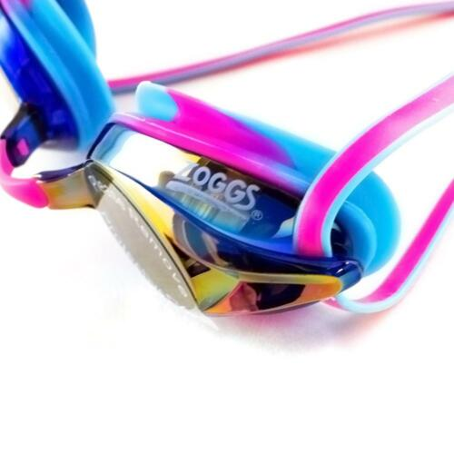 Details about  /Zoggs Adult Racespex Mirror Goggles in Pink//Blue with Mirror Tinted Lenses
