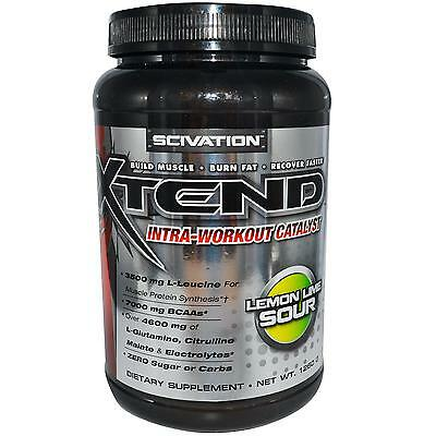 Scivation Xtend  Lemon Lime Sour 90 Servings Intra-Workout Catalyst  NEW!!!