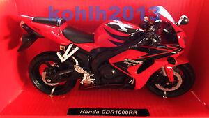 HONDA-cbr1000rr-moto-modello-oggetto-da-collezione-scala-1-12-Maisto-NEW-Ray