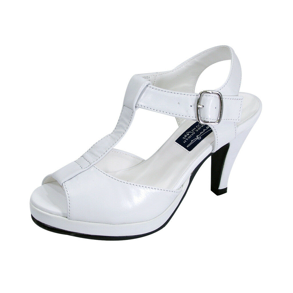 PEERAGE Margie damen Wide Width Peep Toe Toe Toe T-Strap High Heel Platform Dress Sandal ef9cdb