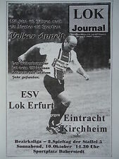 Programm 1998/99 ESV Lok Erfurt - Eintracht Kirchheim