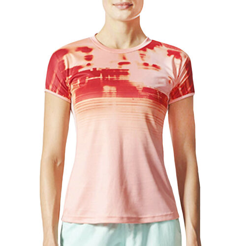 adidas Performance Womens Disrupt Short Sleeve Badminton Sports T-Shirt Tee Top