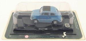 ALTAYA-1-43-SCALA-DIECAST-MODELLO-AUTO-JK21218C-FIAT-500-Blu