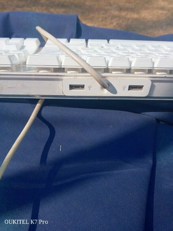 Apple USB keyboard, white, used, good condition.