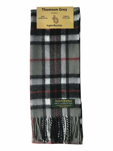 Pure Lambswool Clan Tartan Scarf Made In Scotland In 42 Colours