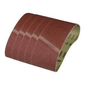 5Pc Sanding Belts Sander Power Abrasive 60#-320# File Finger All Sizes Sandpaper