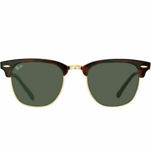 8ea415d827b Ray-Ban RB3016 Clubmaster Unisex Sunglasses with Tortoise Frame and Green  Classic Lenses