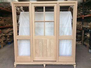 Handcrafted Solid Oak European Oak External Door & Frame Set 2100mm on