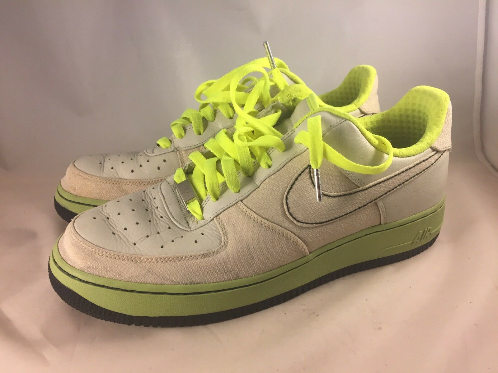 Rare Nike AIR Force 1 AF1 XXV Toronto Bone Volt 315180-002 men's Sz 10