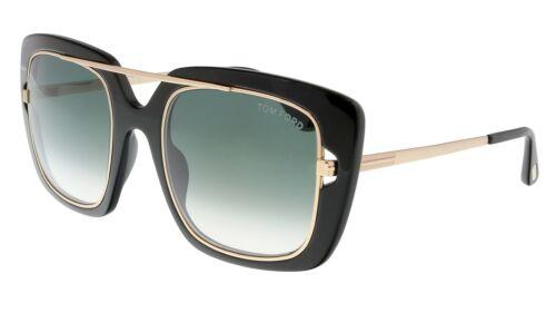 Smoke Gradient 52mm Sunglasses Tom Ford Marissa-02 TF0619 01B Shiny Black