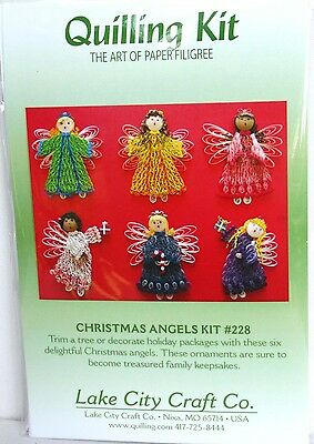 Quilling Kit Christmas Angels Paper Filigree. Scrapbooks, Cards, Photo