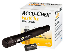 NEW- ACCU-CHEK FASTCLIX LANCING DEVICE. with 6 Sterile Lancets (ONE CARTRAGE)