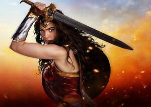 WONDER WOMAN POSTER DC Marvel Movie Wall Art Pic Photo Poster A4 A3
