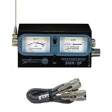 Pro Trucker SWR-3P CB RADIO ANTENNA SWR / TEST METER WITH 3` BELDEN JUMPER COAX