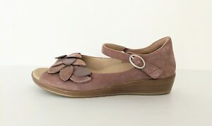 ZIERA-Dusty-Pink-Casual-Comfort-Sandals-Adjustable-Shoes-WORN-ONCE-37-Eu-W