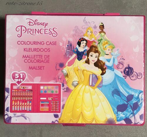 Disney Princess Malkoffer Set 52tlg Stift Malkasten Malbuch Weihnachten Geschenk