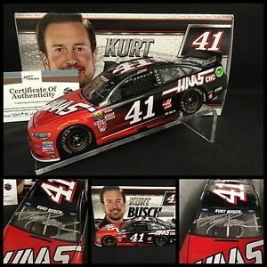 2017 KURT BUSCH Autographed / Signed #41 HAAS FORD FUSION 1/24 W/COA