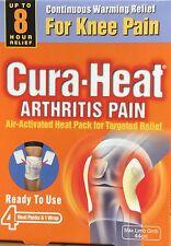 Cura Heat Arthritis Pain Ready To Use 4 Heat Packs & 1 Wrap Knee Pain Warming
