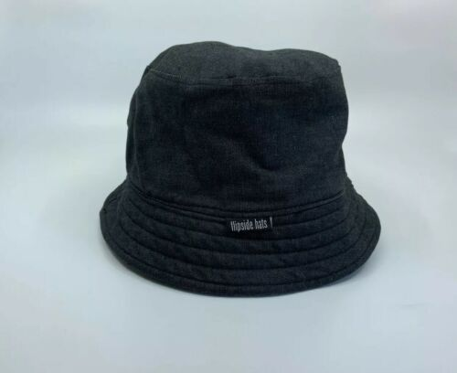 Flipside Reversible Bucket Hat Dark Grey Denim/ Gr