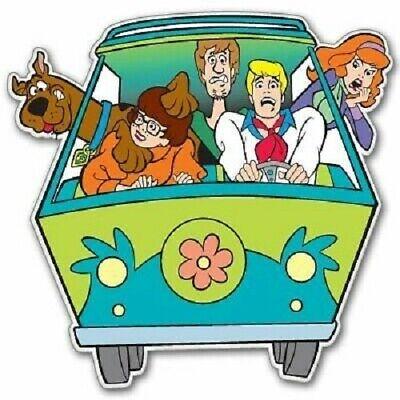 Scooby Doo Mystery Machine Van Vintage Cartoon Vinyl Sticker Decal 2 Pack Of 4 Ebay