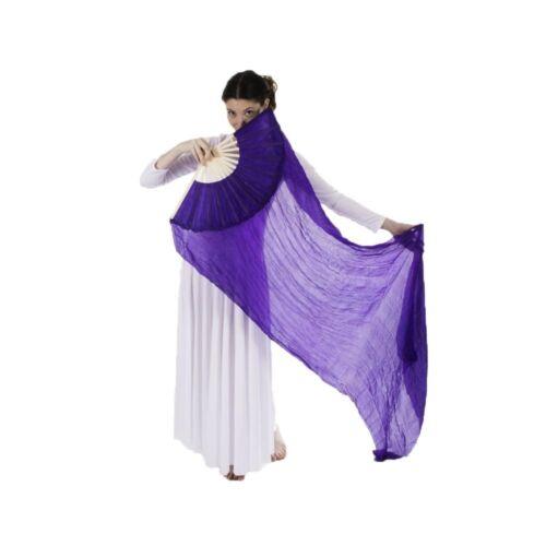 Danzcue Belly Dance Worship Art Semi-transparent Silk Bamboo Dance Long Fans