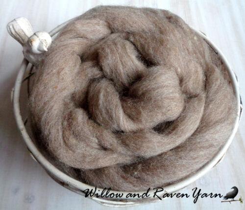 10 FEET Natural Tan Color FAWN ROVING Natural USA Wool Blend Spinning Felting