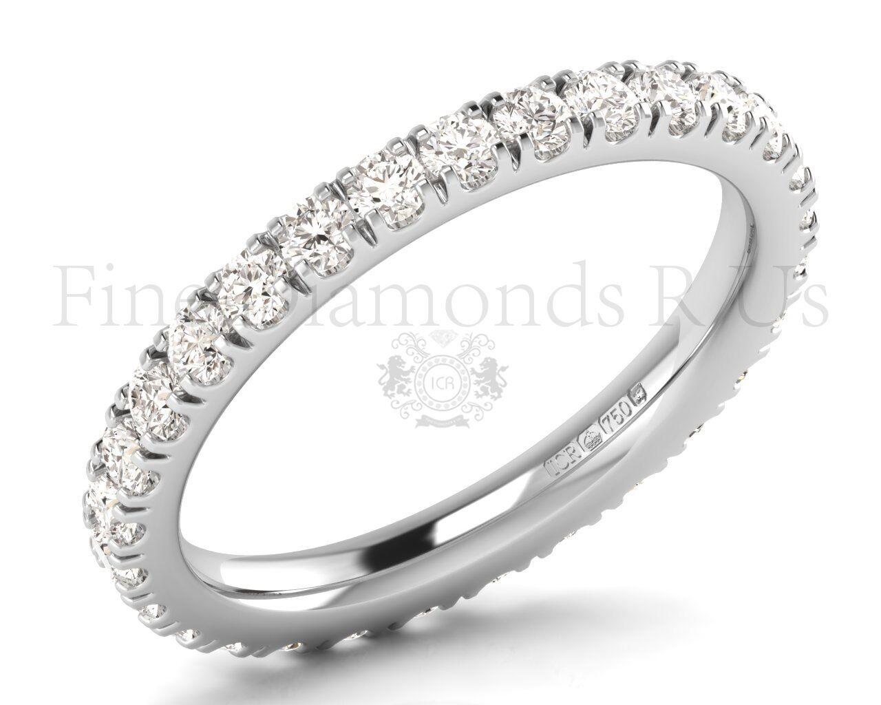 1.00 Carat Round Brilliant Cut Diamonds Full Eternity Ring Available in Platinum