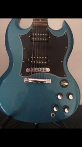 94f158db7 Image is loading Rare-Gibson-SG-Special-electric-guitar-in-blue-