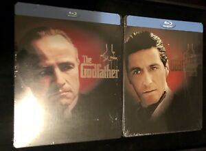 The-Godfather-Part-I-amp-II-Steelbook-Lot-Blu-ray-Best-Buy-Exclusive-SEALED