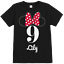 OFFICIAL GIRLS DISNEY MINNIE MOUSE BOW /& EARS PERSONALISED BIRTHDAY T SHIRT
