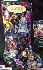 "Bucilla ""Christmas Ornaments"" Santa Bear Soldier Needlepoint Stocking Kit 84645"