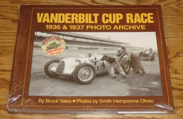 Vanderbilt Cup Race 1936 & 1937 Photo Archive Hardcover Book Brock Yates