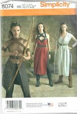 8074 Simplicity Patterns Misses Warrior Costumes Size: H5 6-8-10-12-14