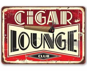 Cigar-Lounge-Durevole-Metallo-Segno-8-034-x-12-034-uso-indoor-outdoor-fantastico-regalo