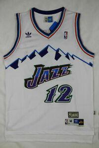promo code 9e3ef 88e24 Details about NWT Men's John Stockton Utah Jazz Throwback Swingman Jersey  White Size S-XXL
