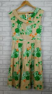 Timeless by Vanessa Tong Fit and flare dress Pleated Sleeveless Sz 12