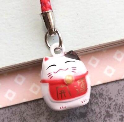 Maneki Neko Fortune Lucky Beckoning Cat Keyring Keychain Key Ring Chain Gift N ♫