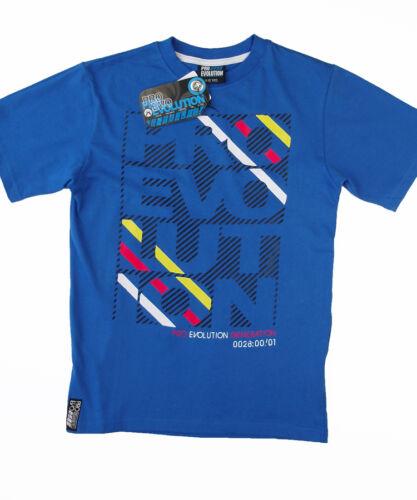 NEW Pro Evo Boys 7yr 8yr 9yr 10yr 11yr 12yr Blue Crew Neck T Shirt