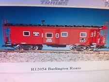 USA Trains G Scale Bay Window Caboose R12054 Burlington Route - Red/Black
