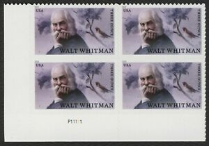 #5414 Walt Whitman, Placa Bloque [P11111 Ll ], Nuevo Cualquier 5=
