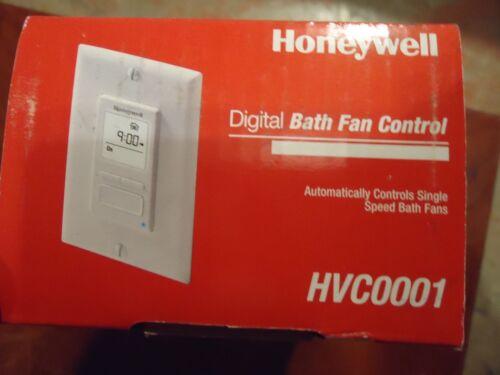 DIGITAL BATH FAN CONTROL HONEYWELL SINGLE SPEED FANS CAT#HVC0001 NEW