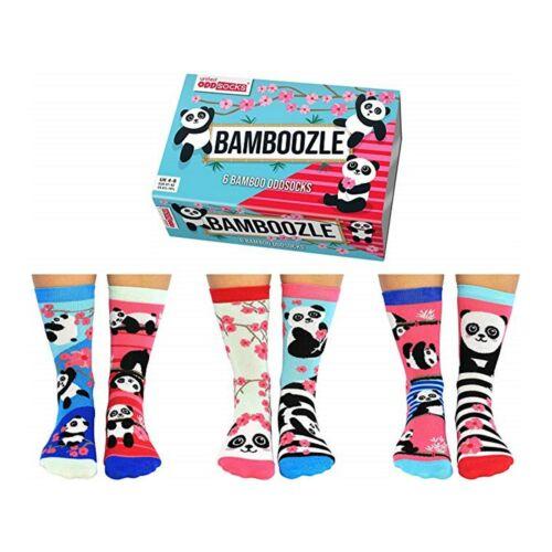 Chaussettes Cadeau United Oddsocks Bébé Panda dépareillées Set de 6 pour femme UK 4-8