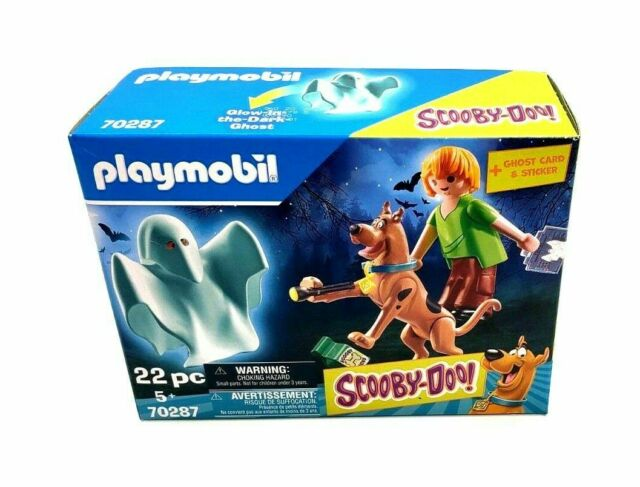 Scooby Doo! & Shaggy with Ghost Action Figures Playmobil 70287 NIB NEW