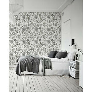 Birds-sketch-removable-Wallpaper-white-mural-Self-Adhesive-Peel-amp-Stick