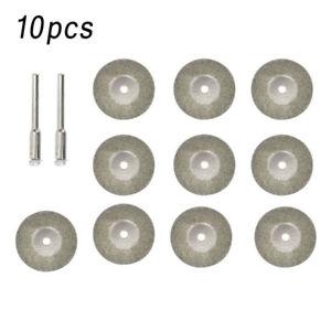 10 22mm Diamant Diamantscheibe Trennscheibe Cutting Gelocht Disk 2 Aufspanndorn
