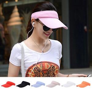03a9e6c8c28 Image is loading Breathable-Sun-Visor-Plain-Hat-Sports-Cap-Golf-