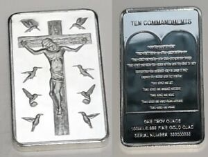 Jesus-Christ-10-Commandments-Silver-Bar-Church-God-Holy-Bible-Christianity-Xmas